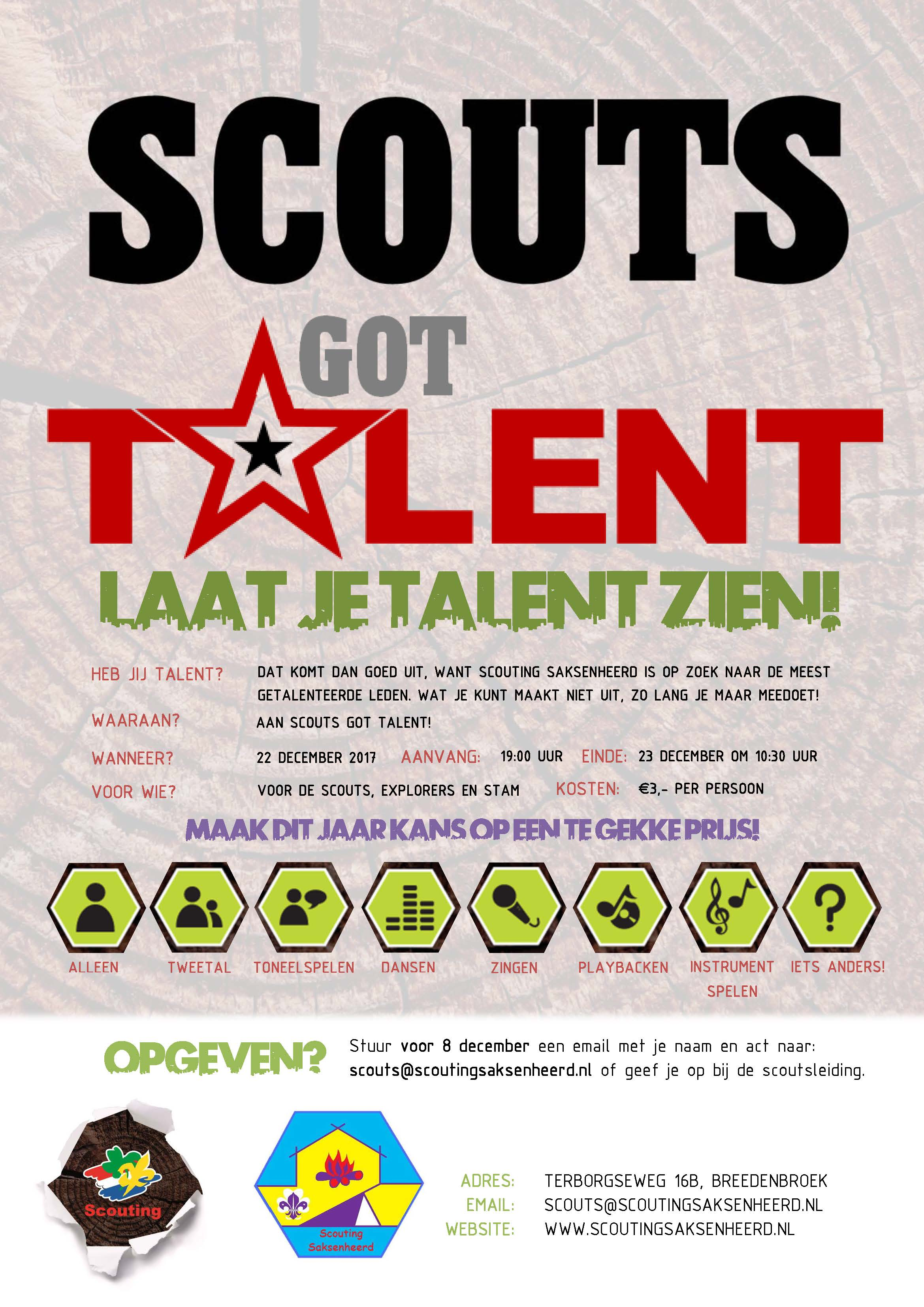 poster Scouts got talent